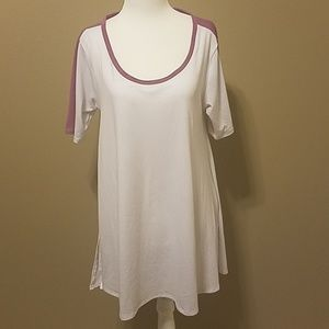 Lularoe White & Purple Shirt